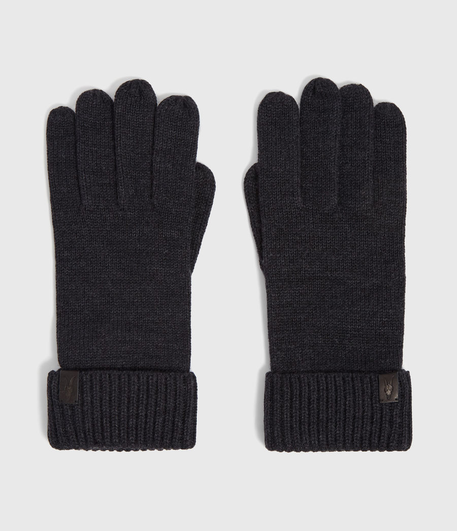 Men's Merino Wool Gloves (cinder_black_marl) - Image 5