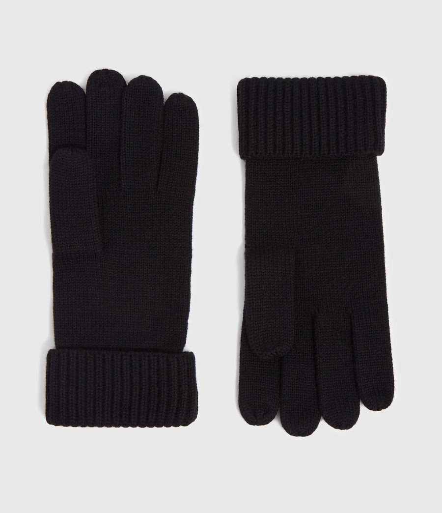 Mens Merino Gloves (black) - Image 1
