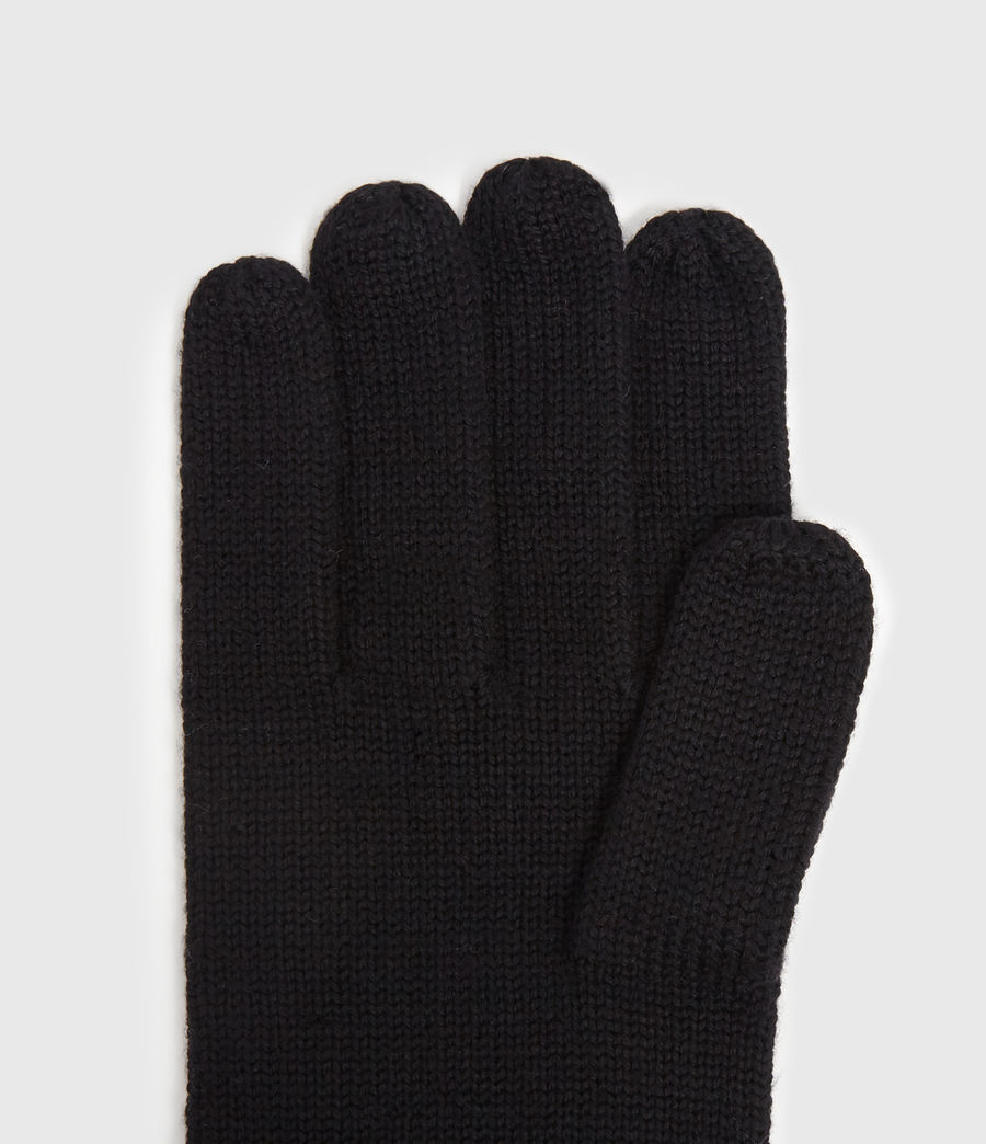 Mens Merino Gloves (black) - Image 2