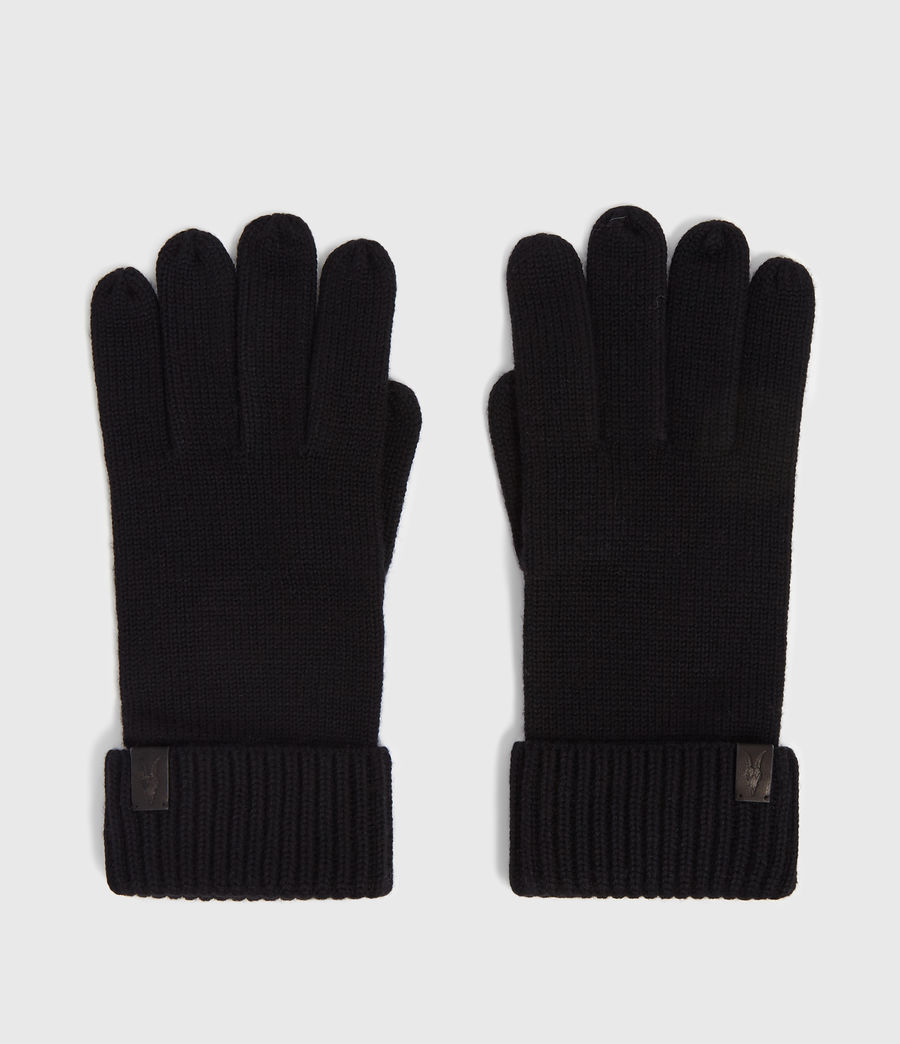 Mens Merino Gloves (black) - Image 4