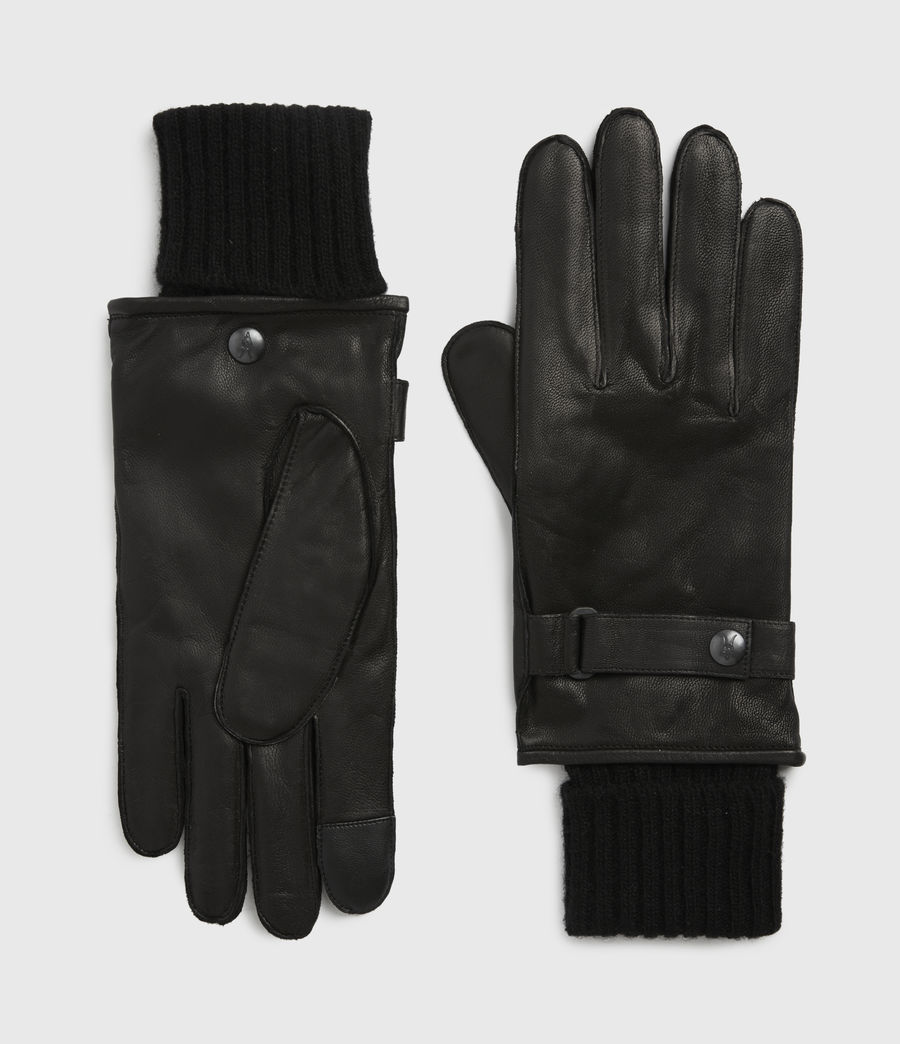 Men's Yield Leather Gloves (black) - Image 1