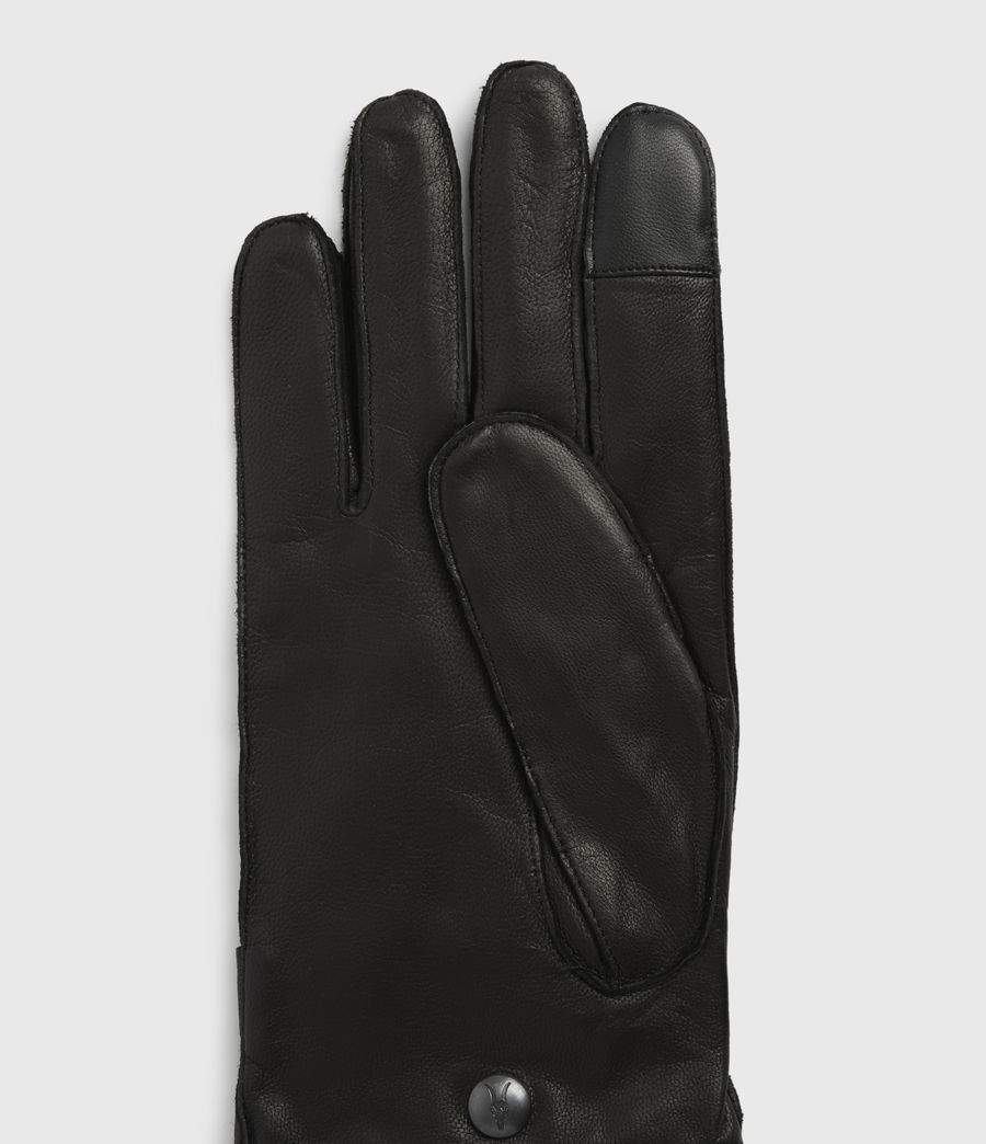 Men's Yield Leather Gloves (black) - Image 2