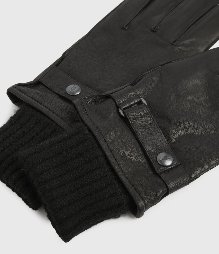 Men's Yield Leather Gloves (black) - Image 3