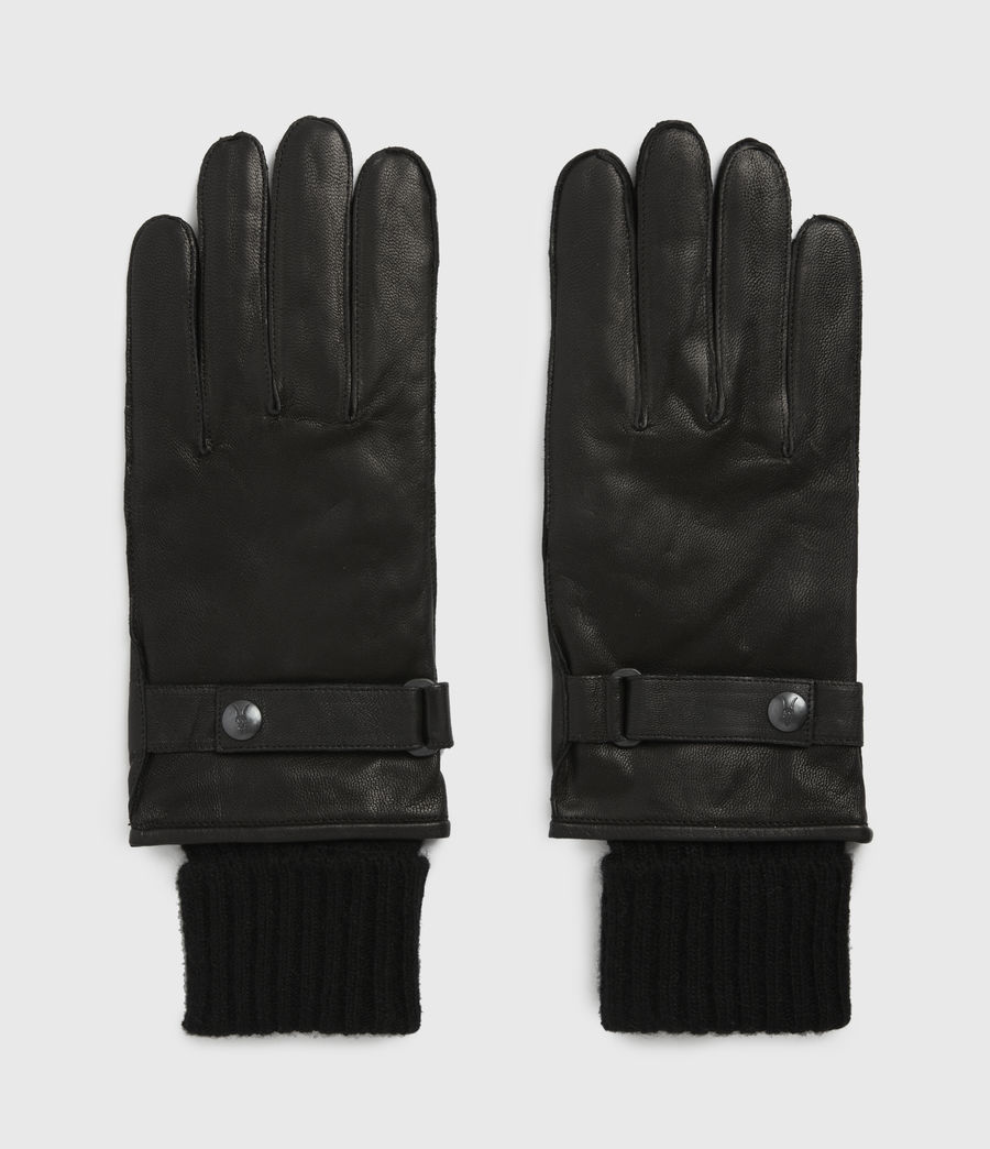 Men's Yield Leather Gloves (black) - Image 4