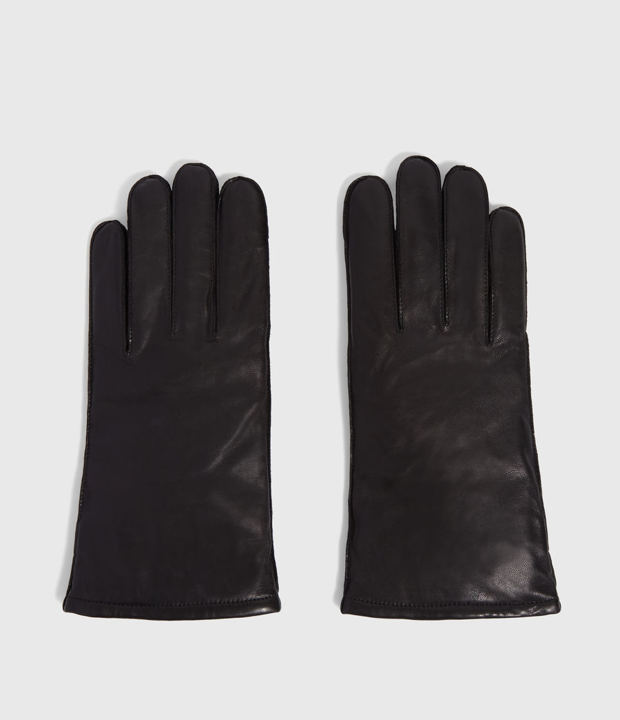 Men's Yield Leather Gloves (black) - Image 5
