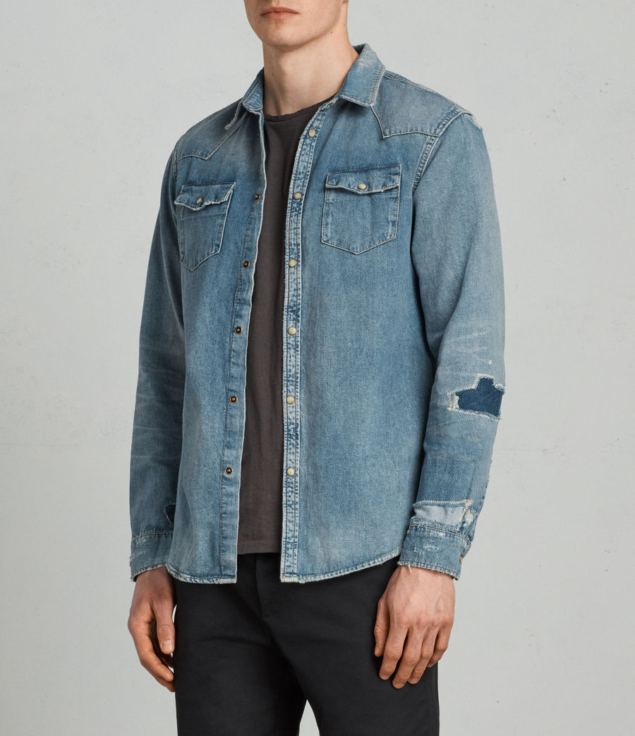 Mens Ilex Shirt (indigo) - Image 1