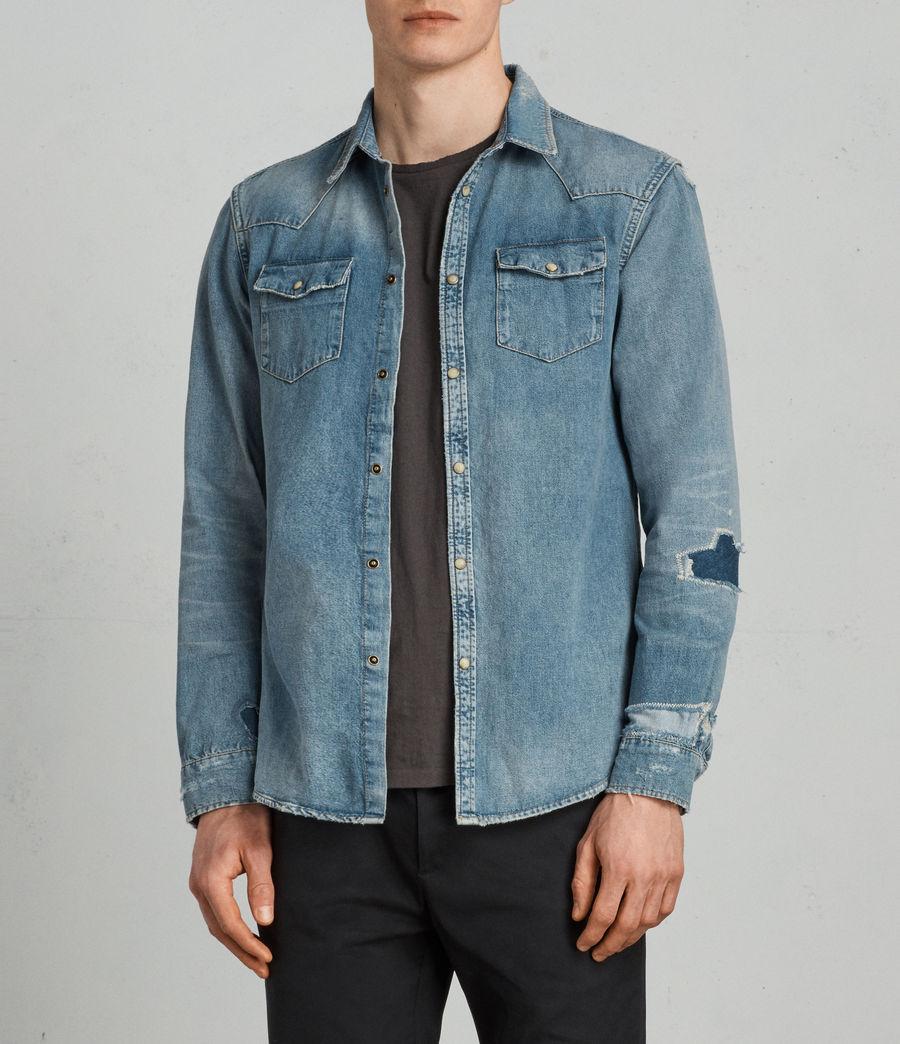 Mens Ilex Shirt (indigo) - Image 3