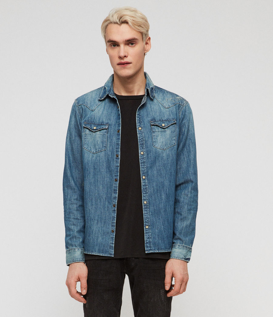 Men's Ikey Denim Shirt (indigo_blue) - Image 1