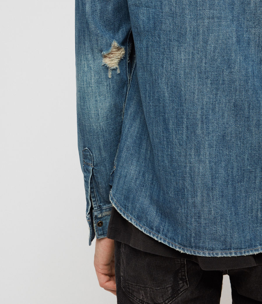Men's Ikey Denim Shirt (indigo_blue) - Image 4