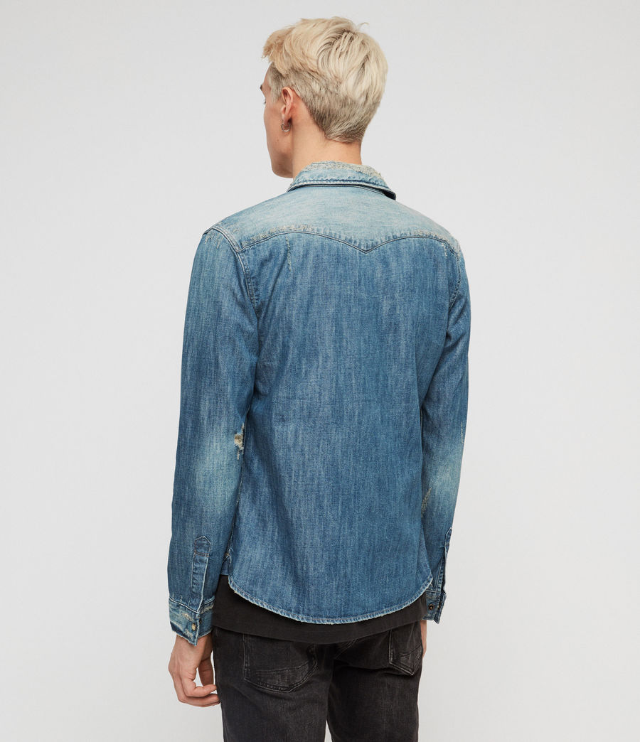 Men's Ikey Denim Shirt (indigo_blue) - Image 5