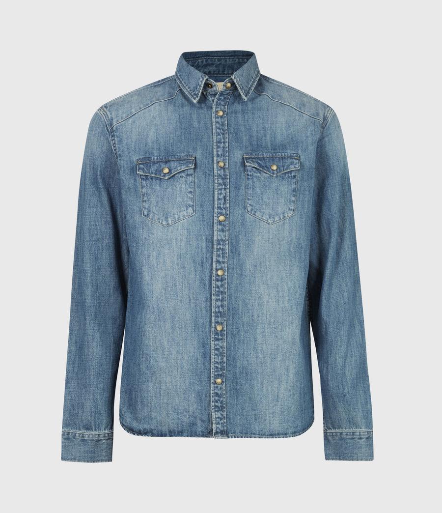 Men's Denning Denim Shirt (dark_indigo) - Image 2