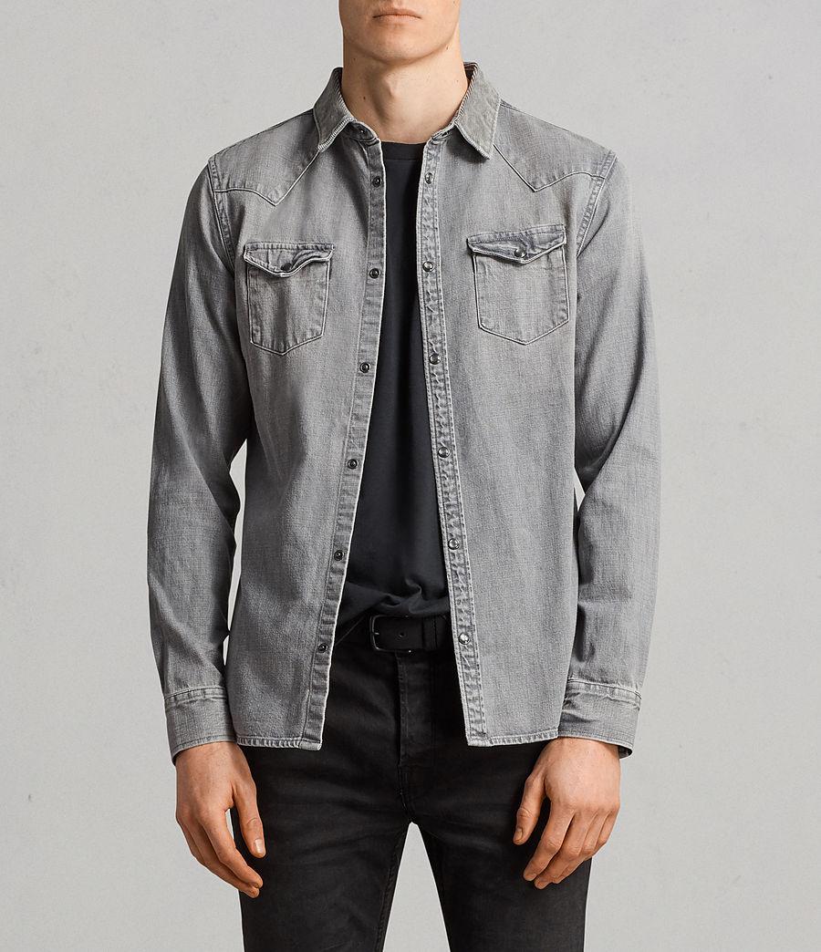 Mens Gamble Denim Shirt (grey) - Image 1