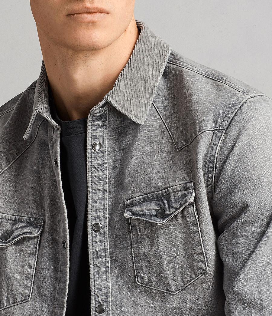 Mens Gamble Denim Shirt (grey) - Image 2