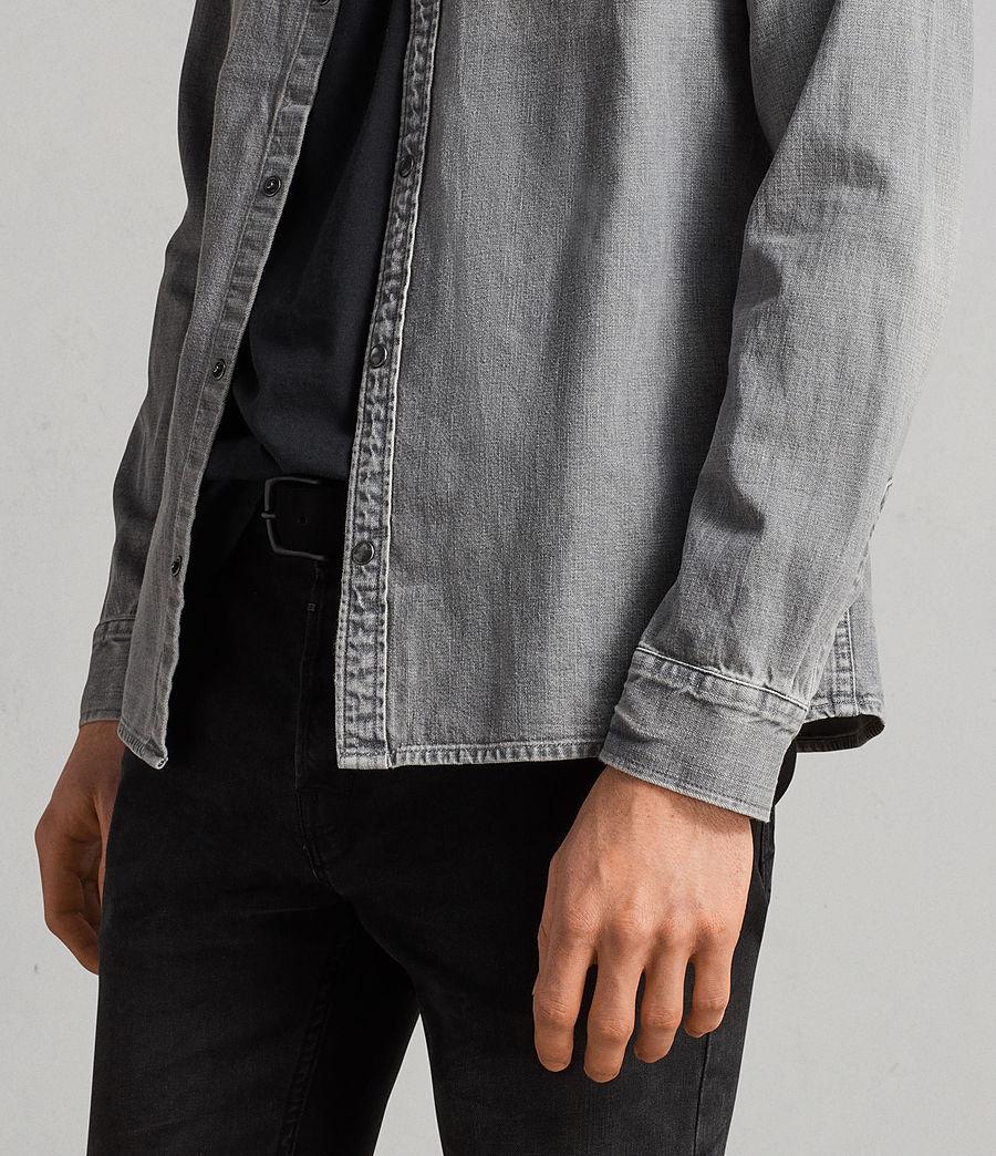 Mens Gamble Denim Shirt (grey) - Image 4