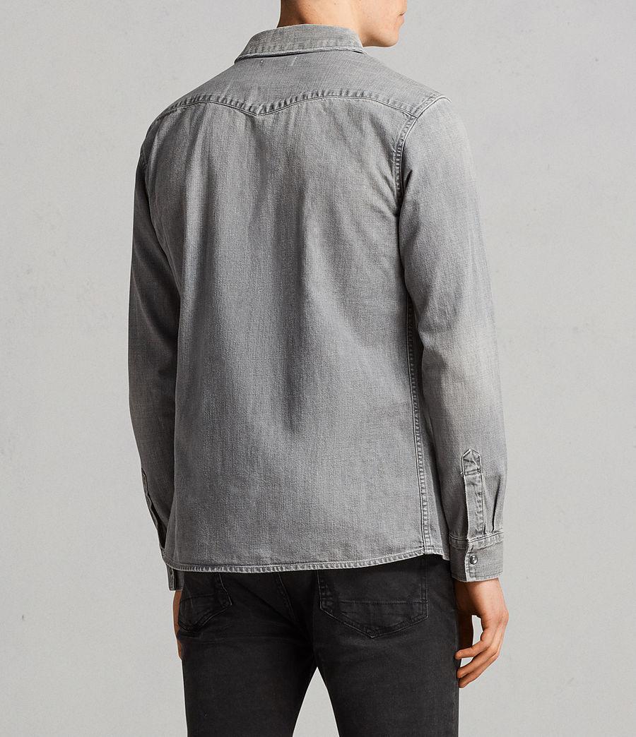 Mens Gamble Denim Shirt (grey) - Image 5