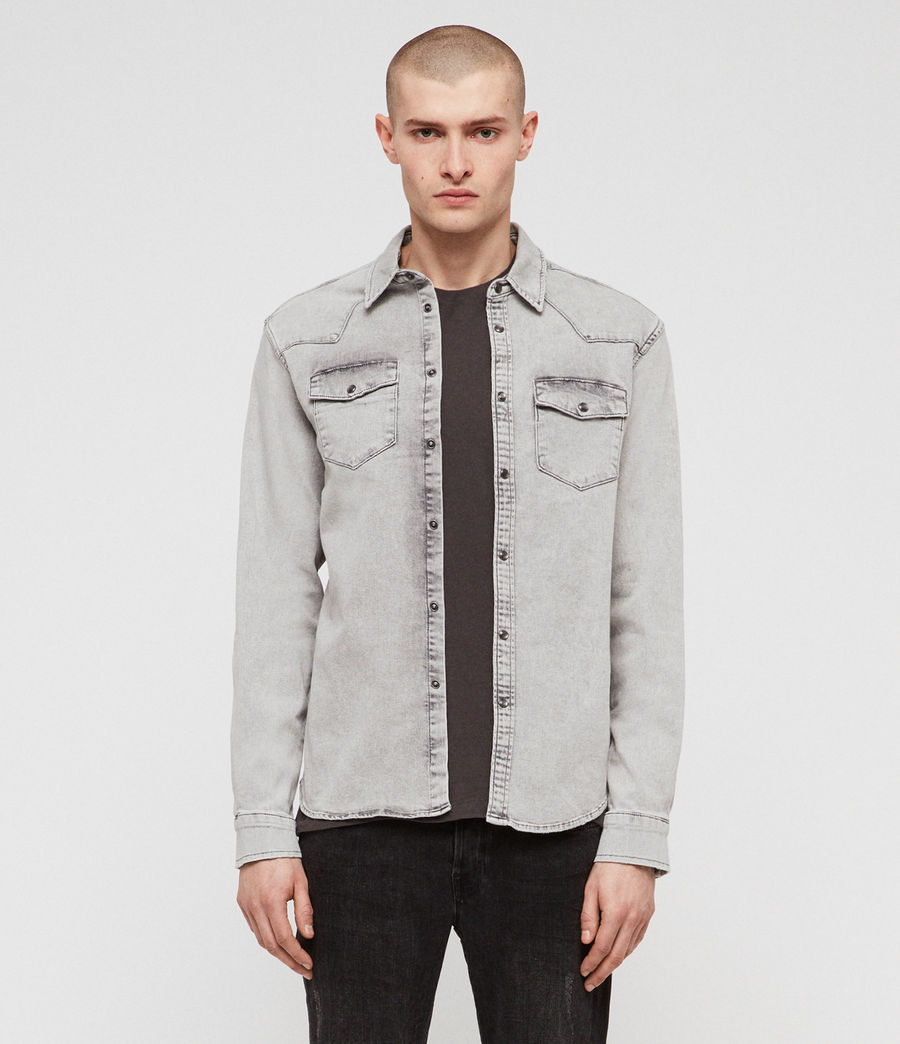 Mens Gilard Denim Shirt (light_grey) - Image 1