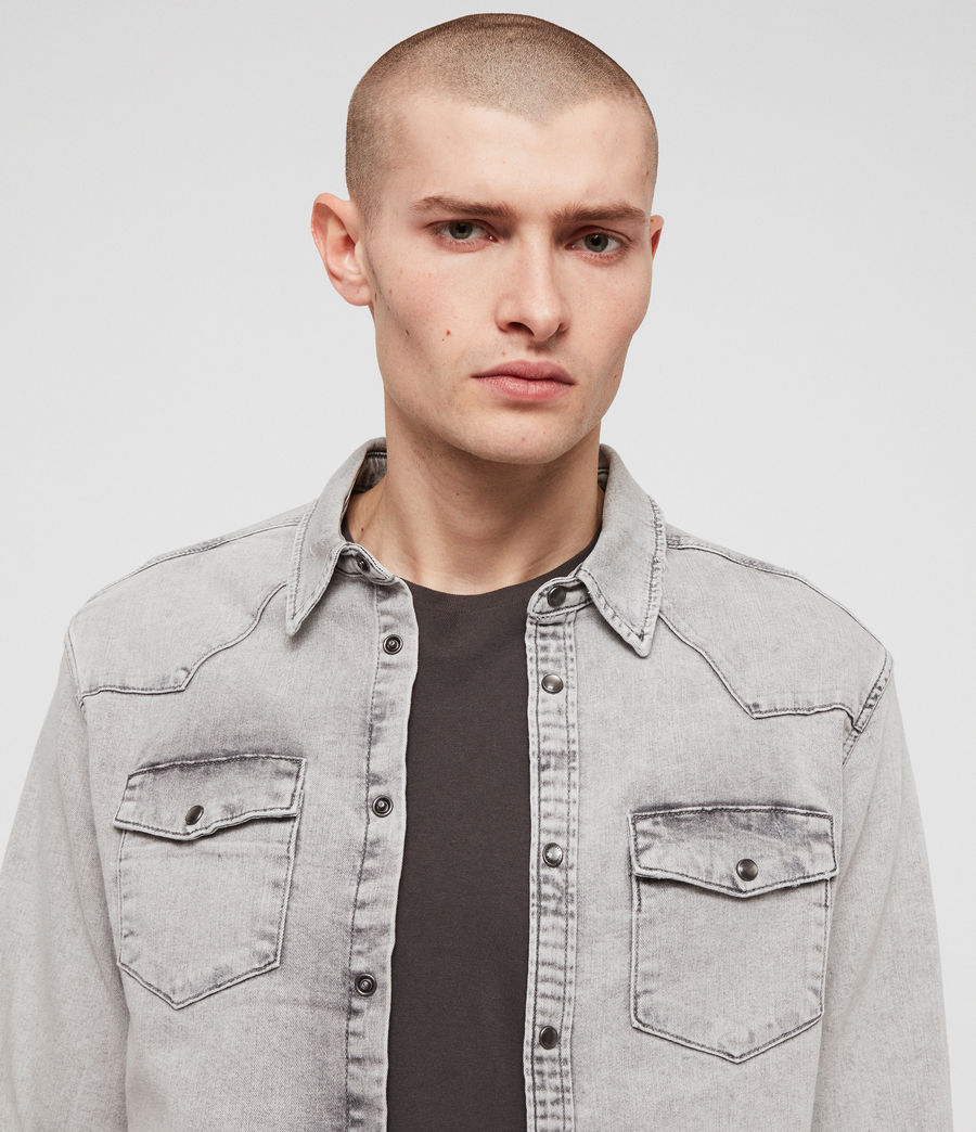 Men's Gilard Denim Shirt (light_grey) - Image 2
