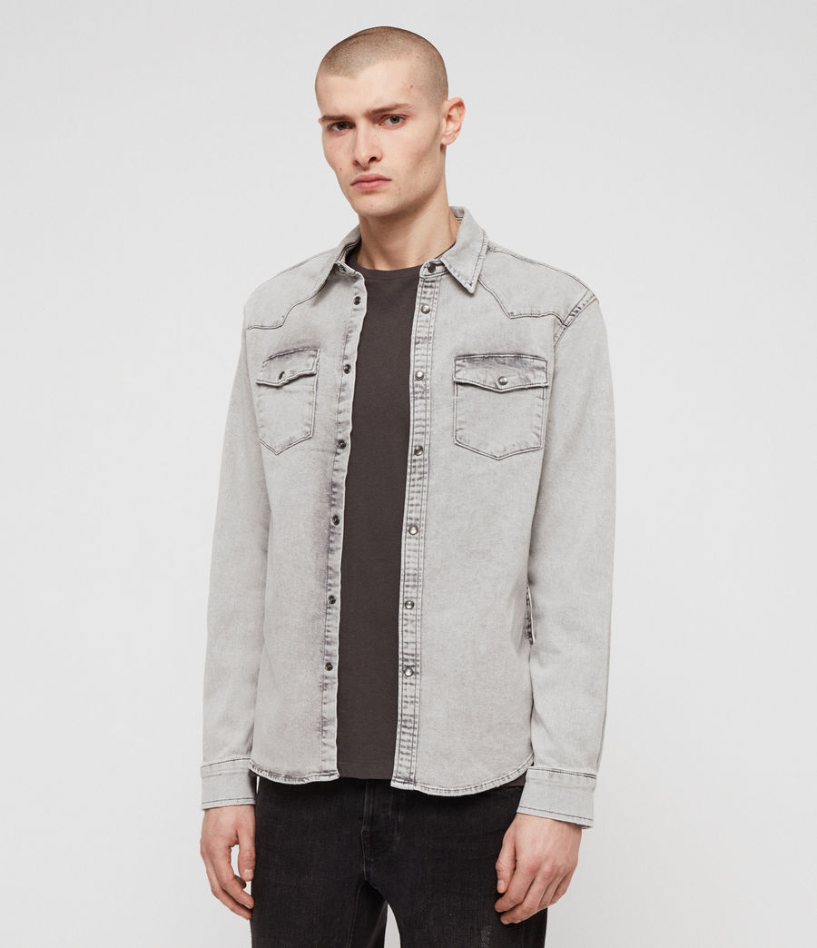 Men's Gilard Denim Shirt (light_grey) - Image 3