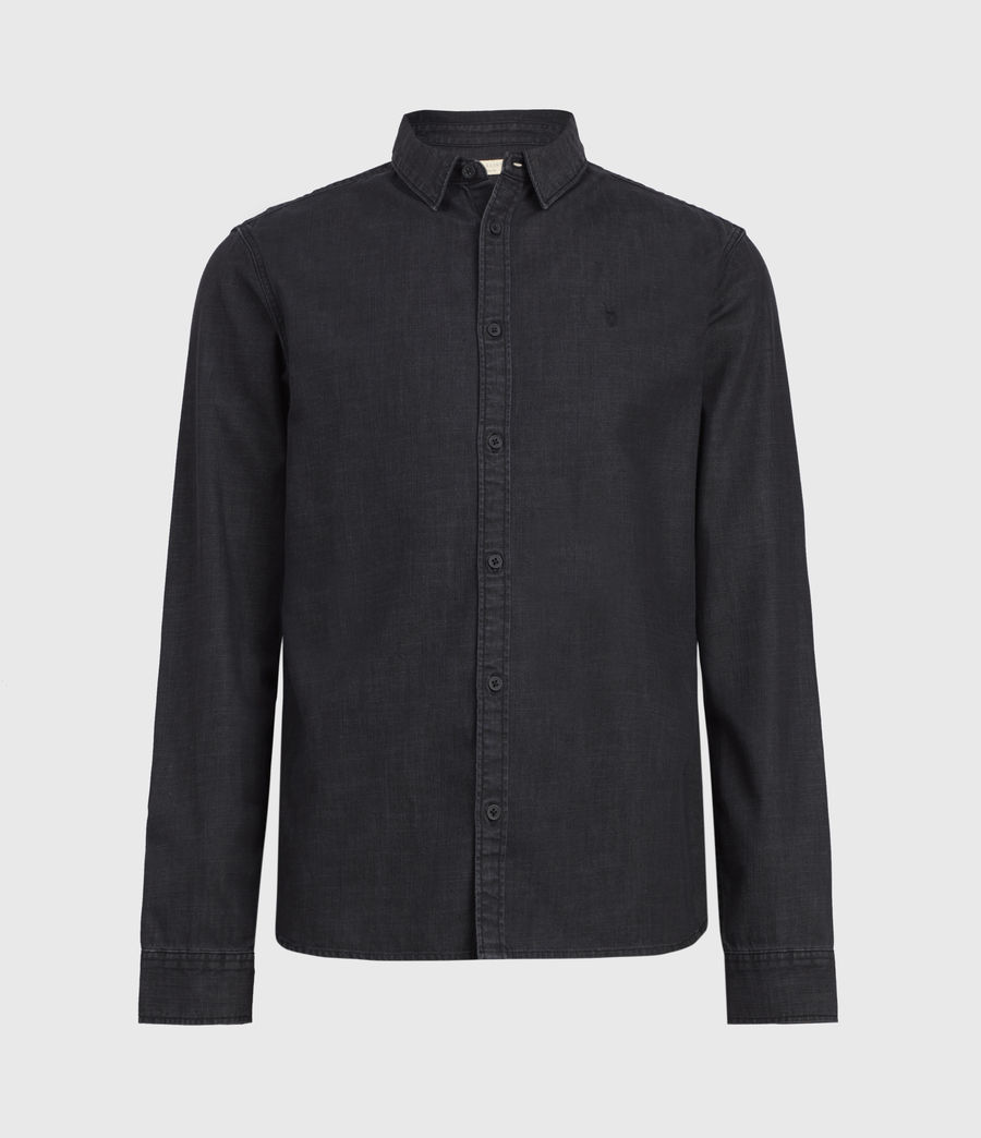 Mens Bramston Denim Shirt (washed_black) - Image 1