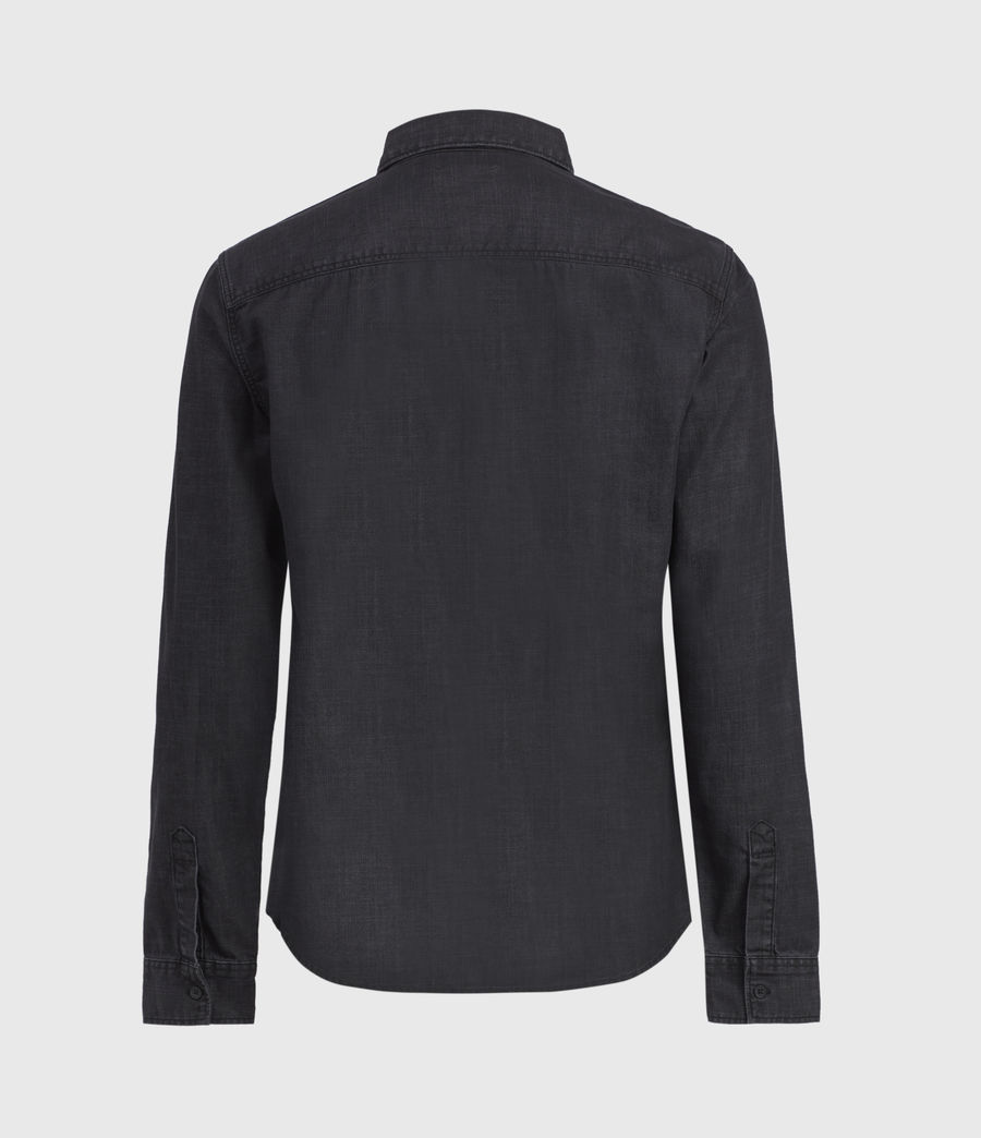 Mens Bramston Denim Shirt (washed_black) - Image 2