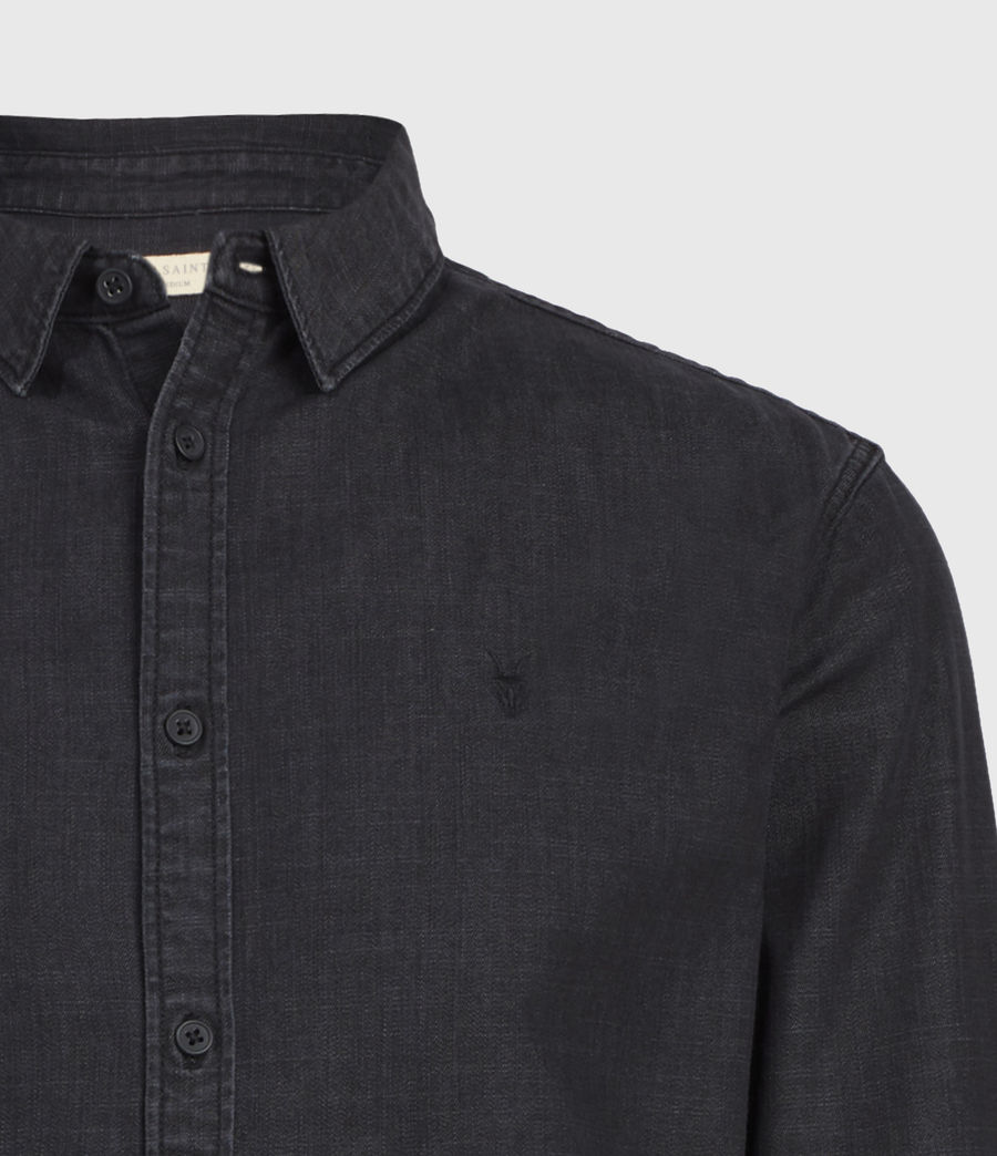 Mens Bramston Denim Shirt (washed_black) - Image 3
