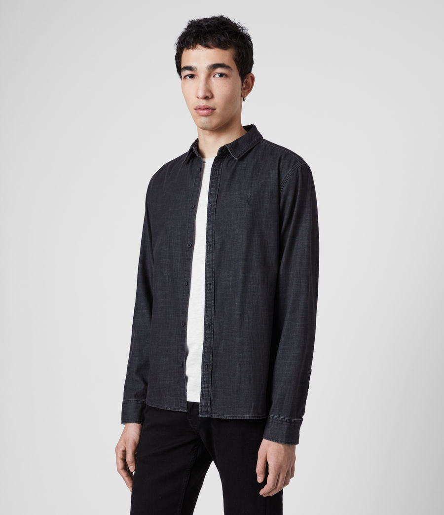 Men's Bramston Denim Shirt (washed_black) - Image 4