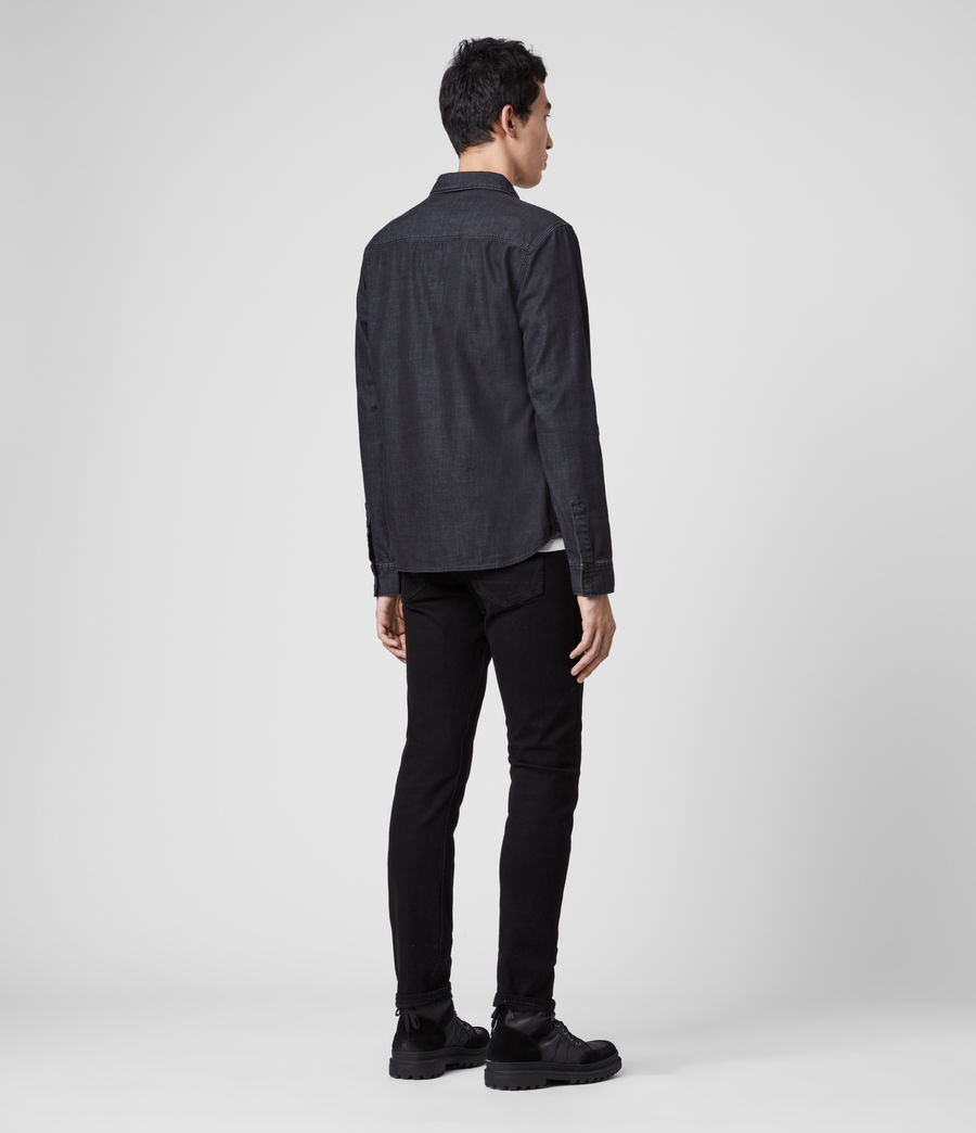 Mens Bramston Denim Shirt (washed_black) - Image 5