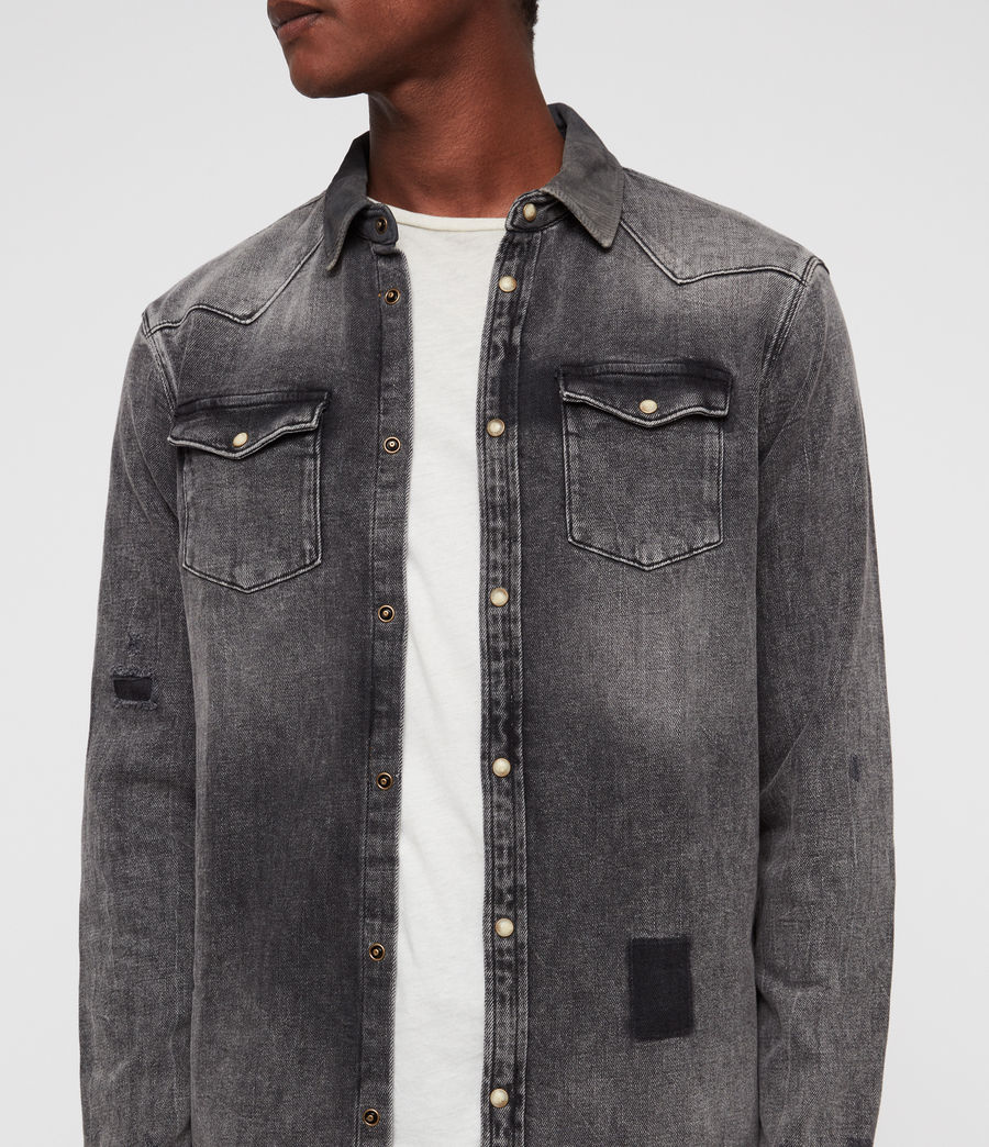 Mens Glockeley Shirt (indigo) - Image 2