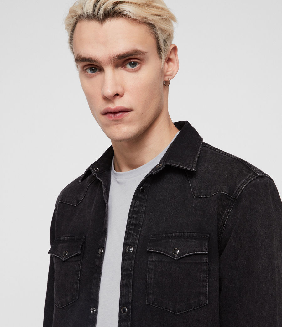 Hombre Based Denim Shirt (washed_black) - Image 2
