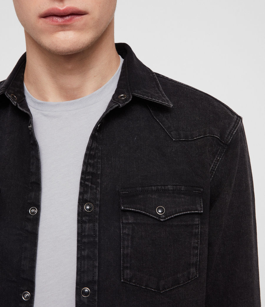 Hombre Based Denim Shirt (washed_black) - Image 3
