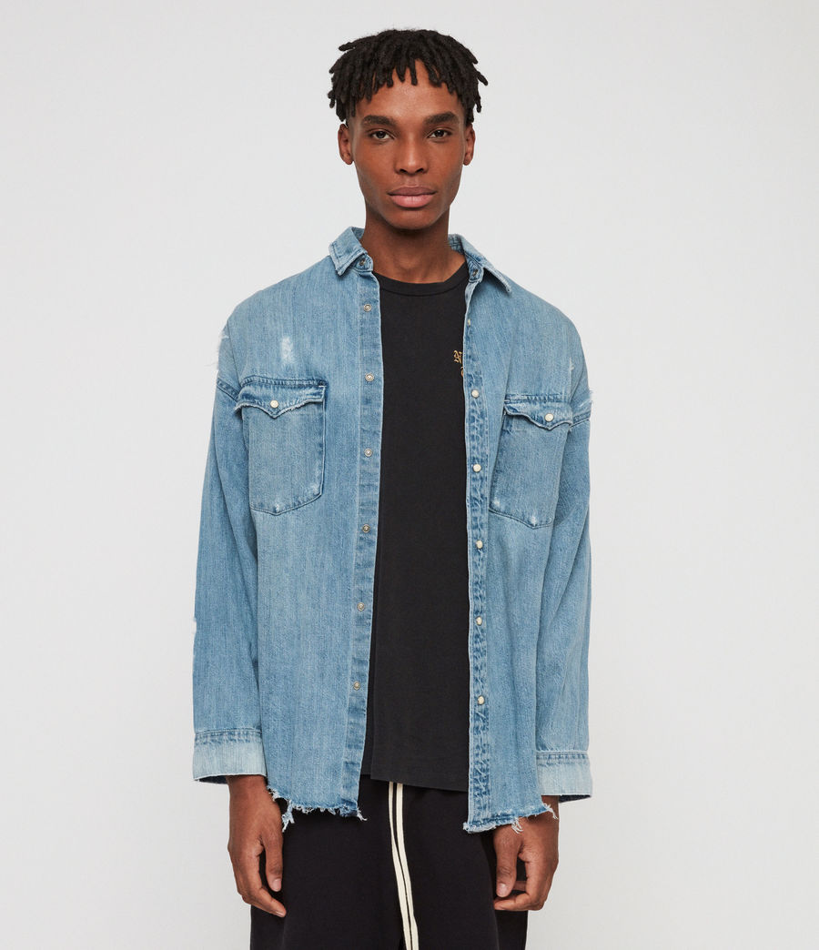 Men's Intor Denim Shirt (indigo_blue) - Image 2