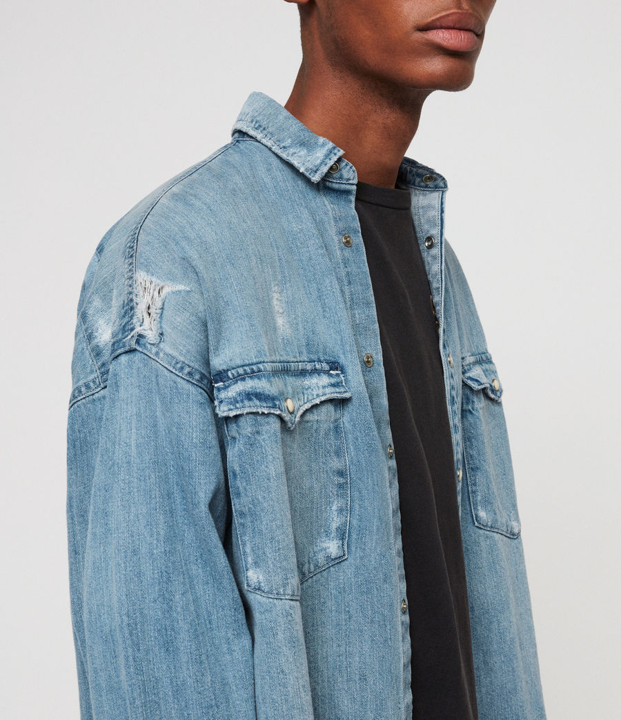 Men's Intor Denim Shirt (indigo_blue) - Image 3