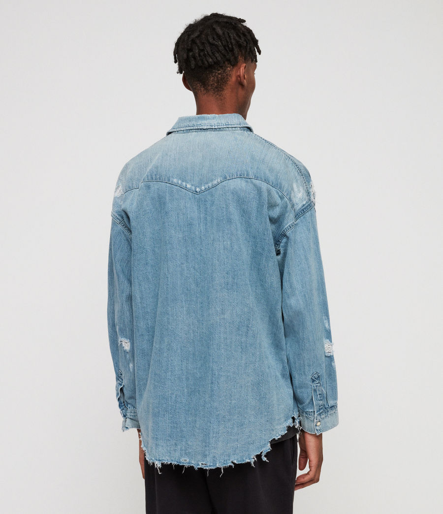 Mens Intor Denim Shirt (indigo_blue) - Image 4
