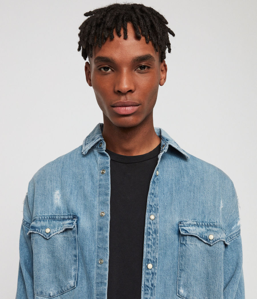 Men's Intor Denim Shirt (indigo_blue) - Image 6