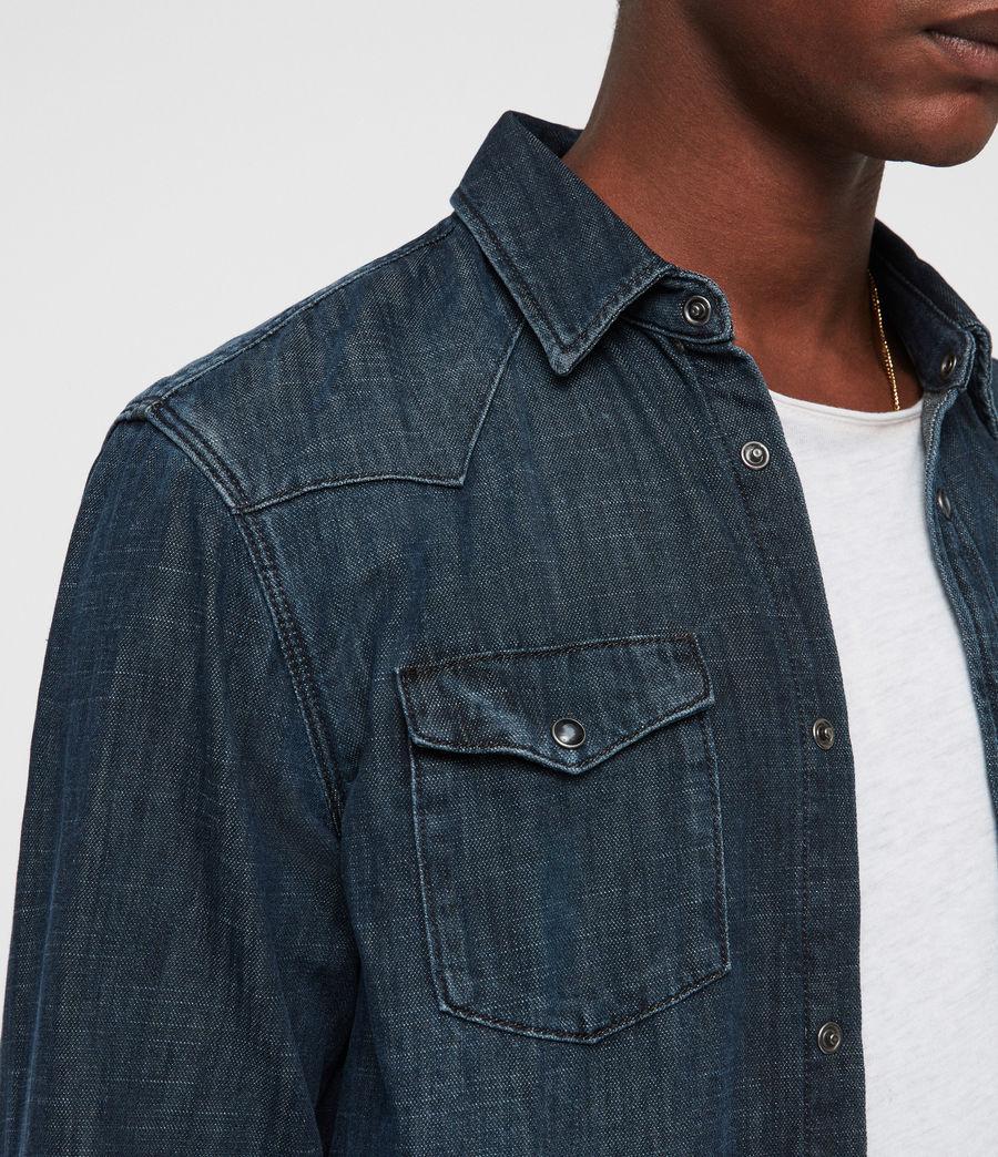 Mens Painter Shirt (indigo) - Image 2