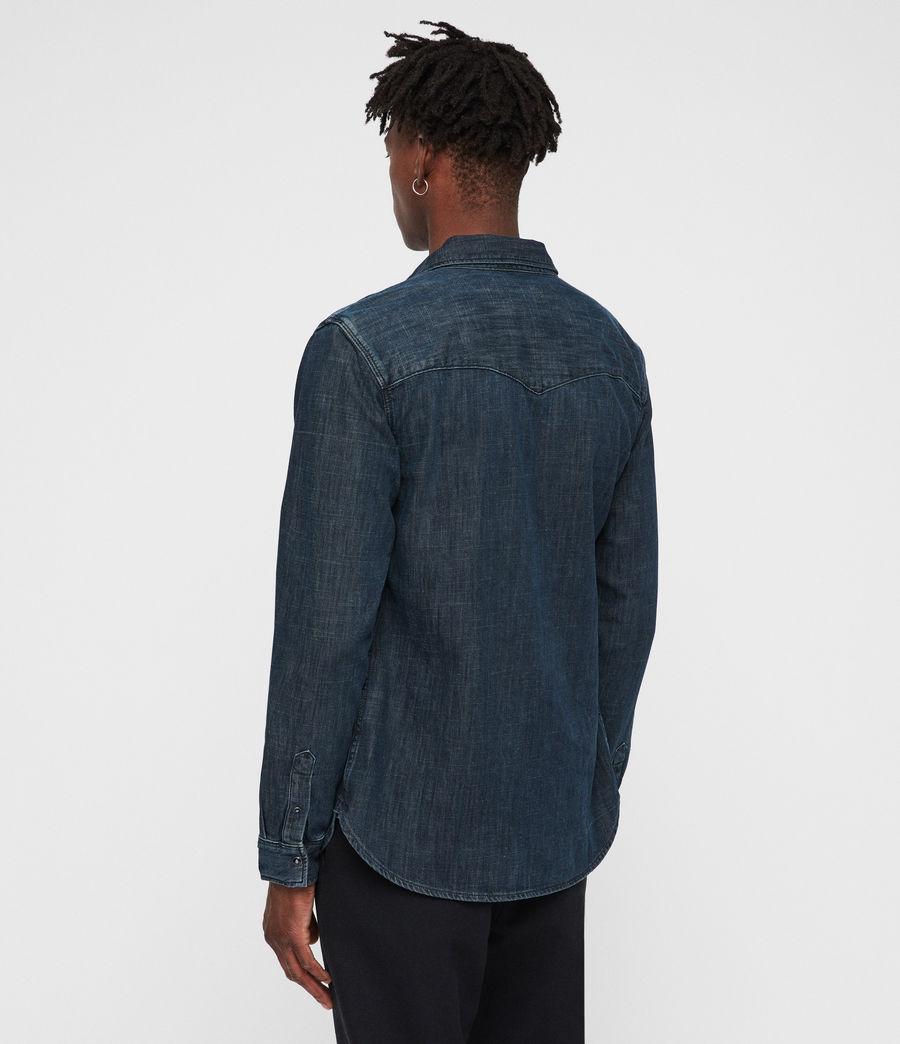Mens Painter Shirt (indigo) - Image 5
