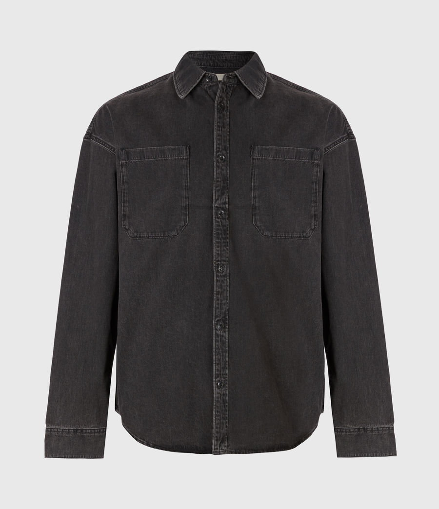 Mens Trellick Shirt (washed_black) - Image 2
