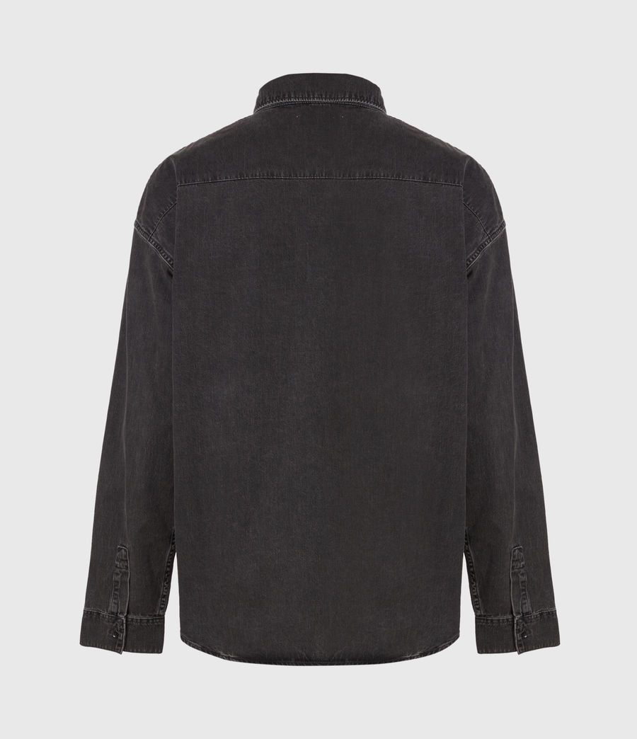 Mens Trellick Shirt (washed_black) - Image 3