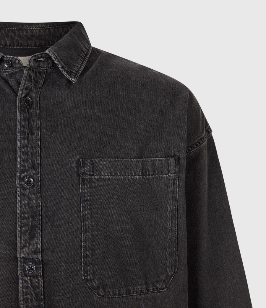 Mens Trellick Shirt (washed_black) - Image 4