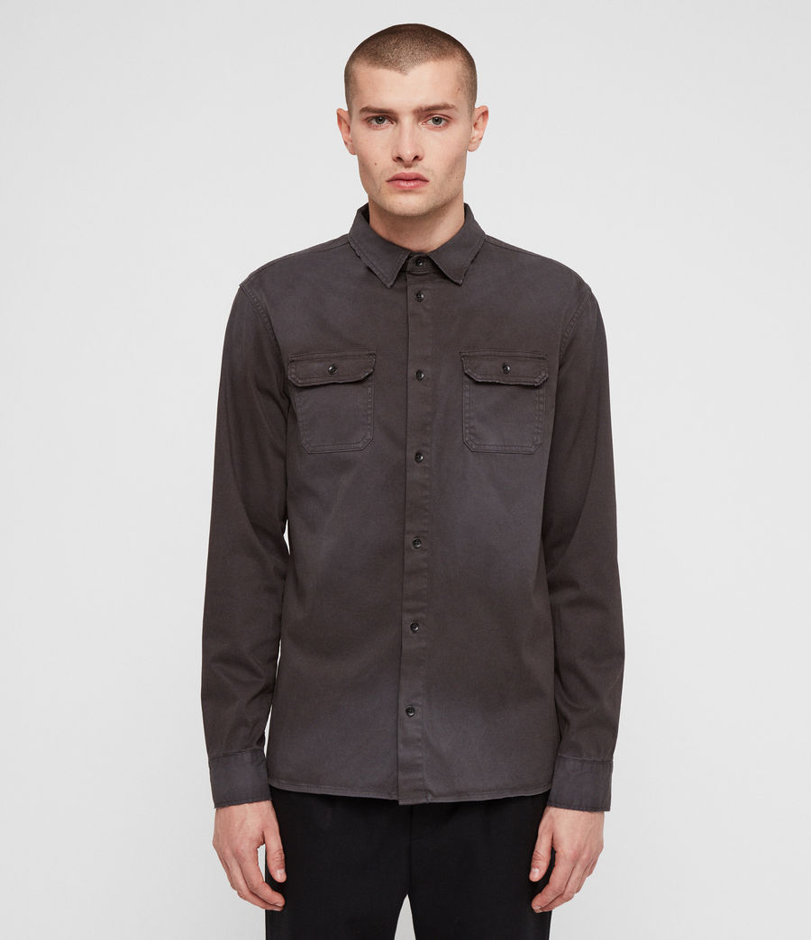 Mens Bryant Shirt (charcoal_grey) - Image 4