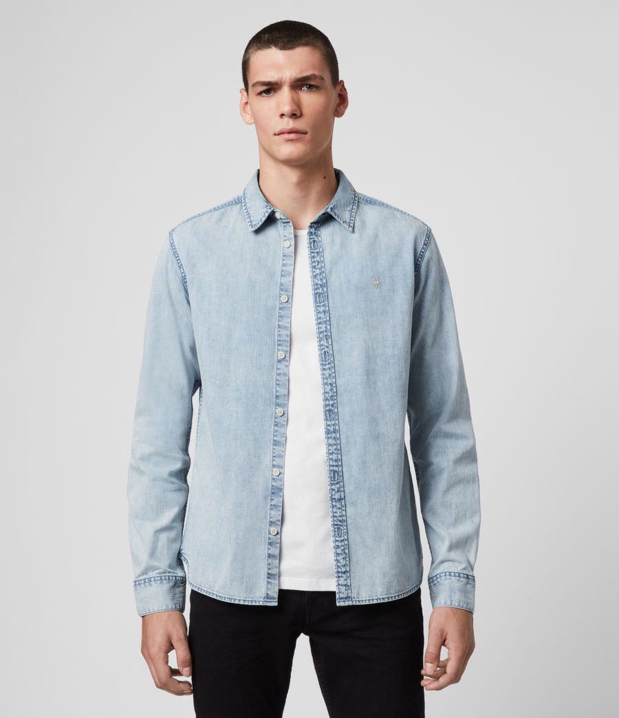Hombres Darton Denim Shirt (light_indigo) - Image 1