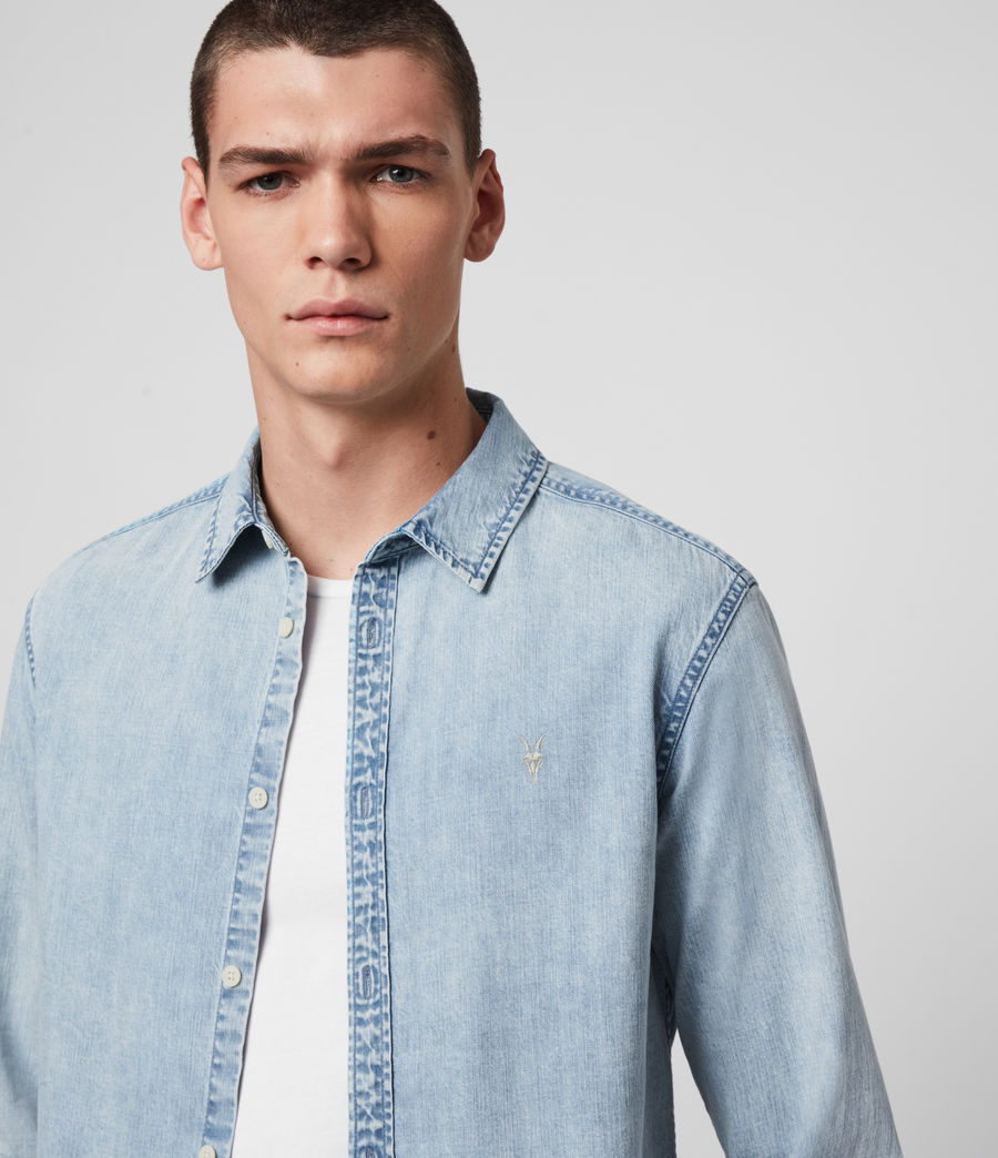 Hombres Darton Denim Shirt (light_indigo) - Image 2