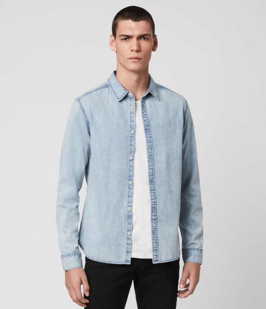 Mens Darton Denim Shirt (light_indigo) - Image 3