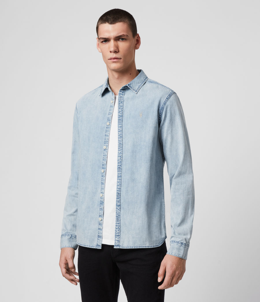 Hombres Darton Denim Shirt (light_indigo) - Image 3
