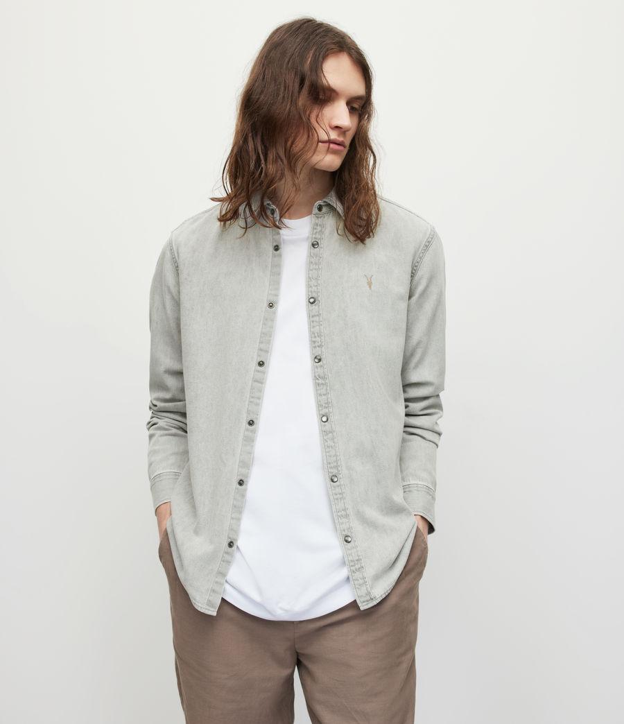 Men's Gleason Denim Shirt (grey) - Image 1