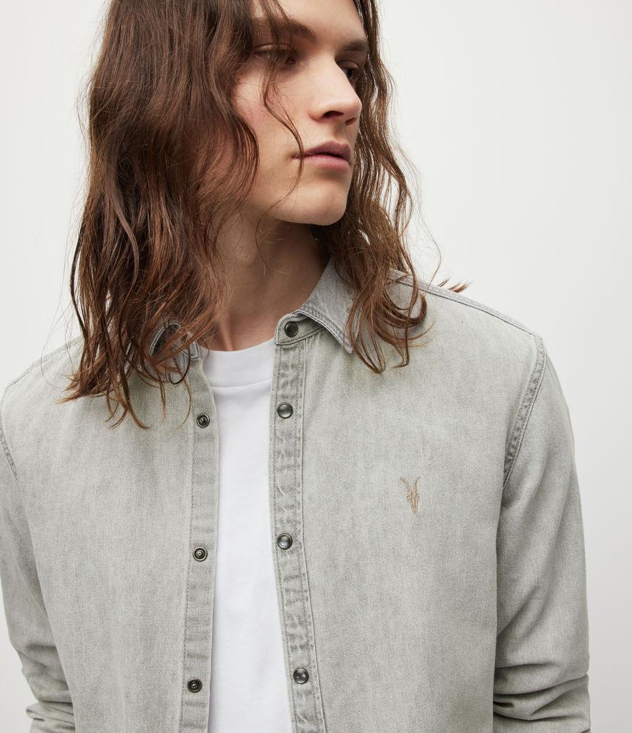 Men's Gleason Denim Shirt (grey) - Image 2