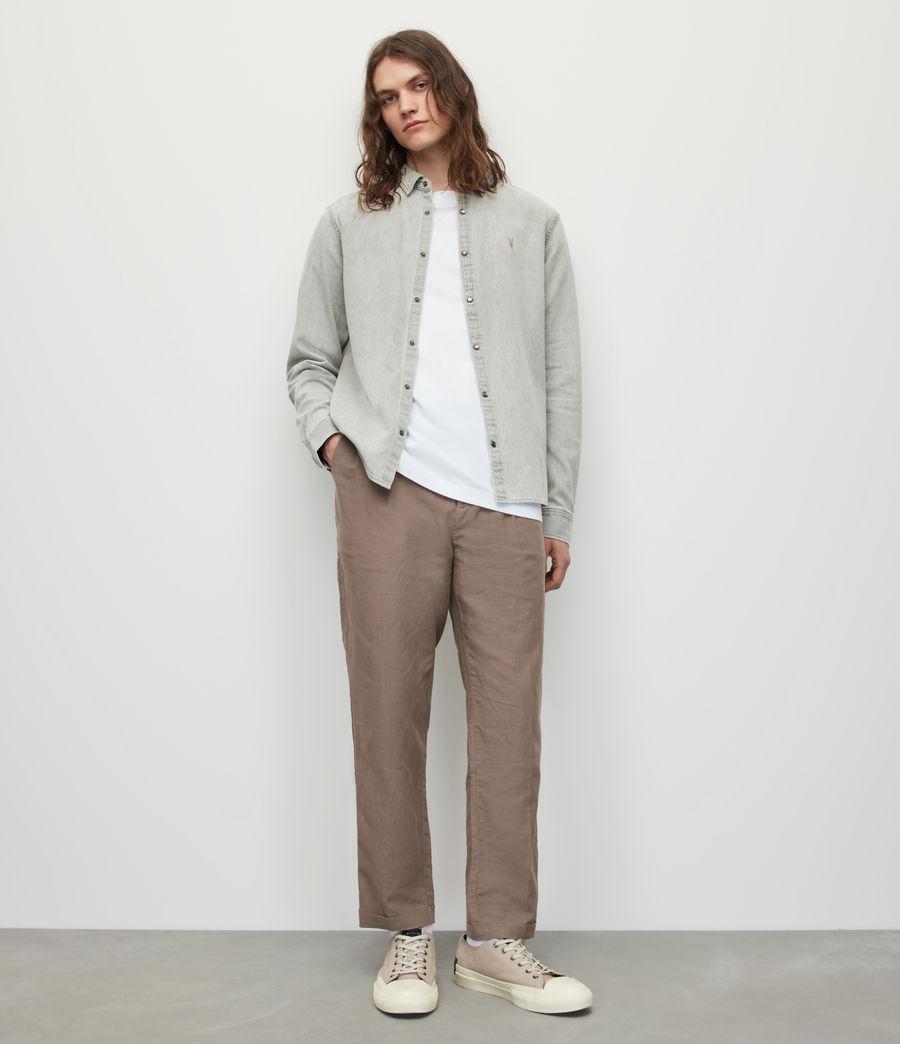 Men's Gleason Denim Shirt (grey) - Image 3