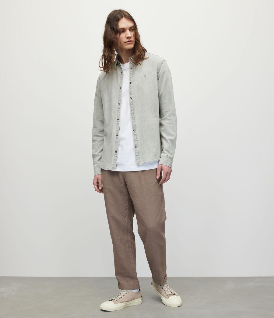 Men's Gleason Denim Shirt (grey) - Image 4