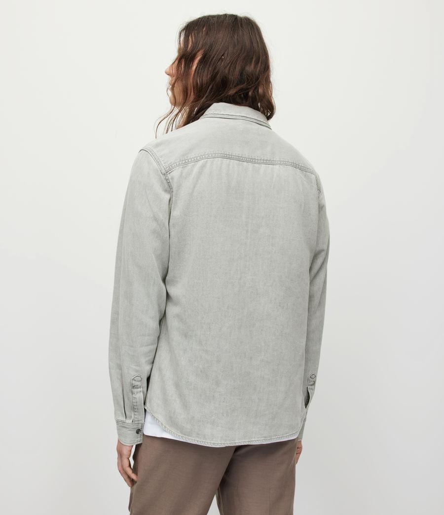 Men's Gleason Denim Shirt (grey) - Image 5