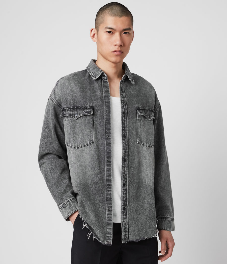 Mens Dore Denim Shirt (washed_black) - Image 1